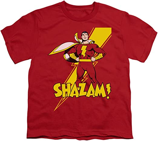 Shazam Classic Comic TRANSFORMATION Licensed Adult T-Shirt All Sizes