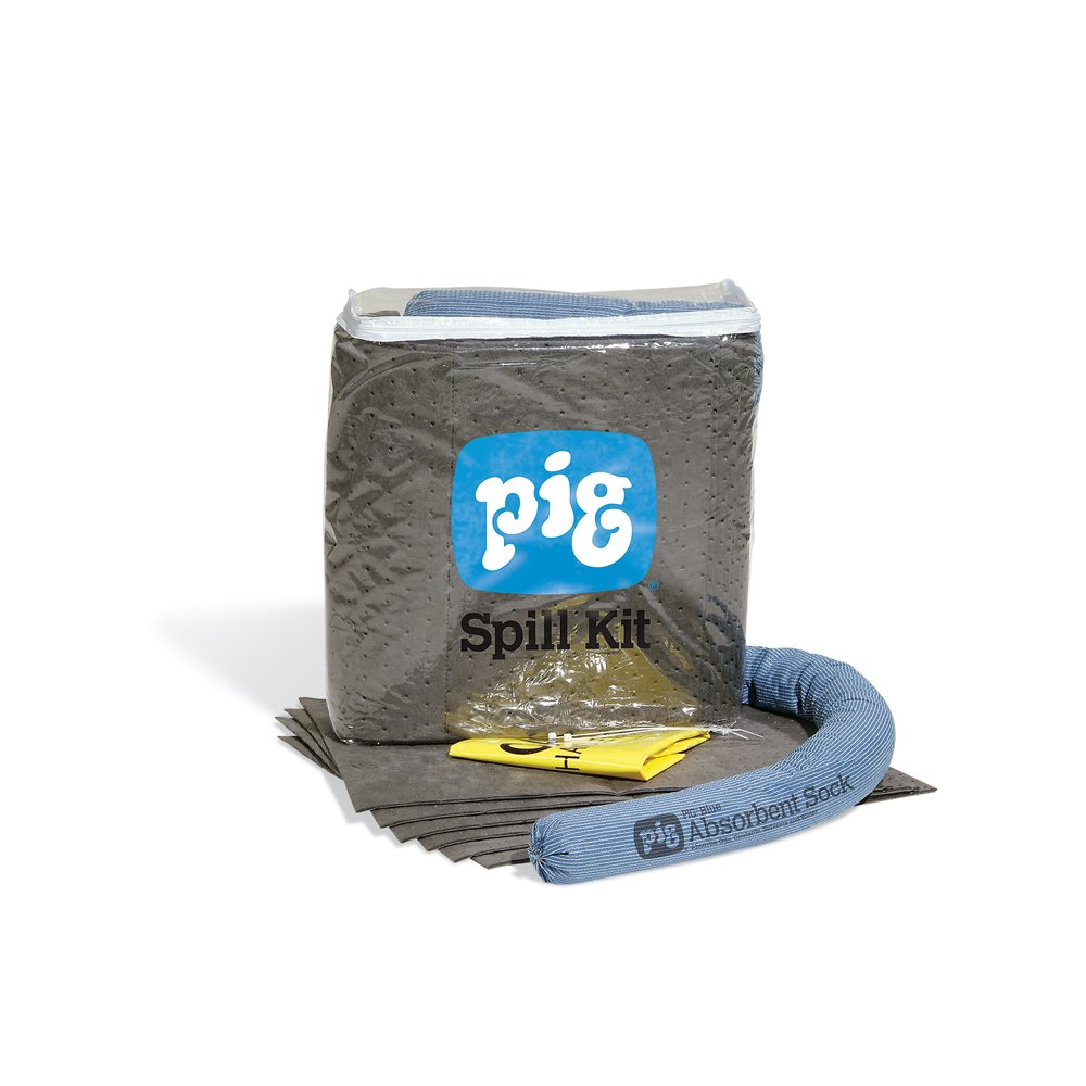 New Pig Spill Kit in See-Thru Bag, Absorbs Oils, Coolants, Solvents & Water, 5-Gal Absorbency, Stop Spreading Spills & Absorb Spills Quickly, Portable Bag, KIT274: Industrial Spill Response Kits: Industrial & Scientific