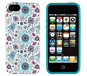 iPhone 5 / 5S Case, Sunshine Case PERFECT PATTERN *No Chip/No Peel* Flexible Slim Case Cover for Apple iPhone 5 / 5S - LIFETIME WARRANTY [Colorful Spring Flowers]