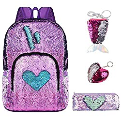 Reversible Magic Flip Sequins Mermaid Backpack