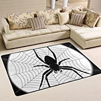 Spider Insect Halloween Children Area Rugs 60 x 39 by DEYYA, Home Decoration Non-Slip Doormat Rugs for Living Room Bedroom Kitchen