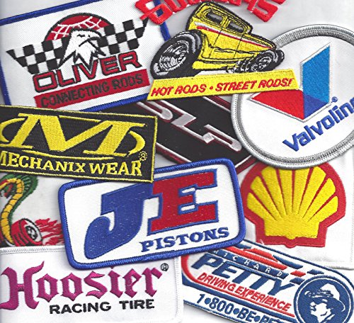 Racing Patch Assortment of 10 Patches By Crash Daddy