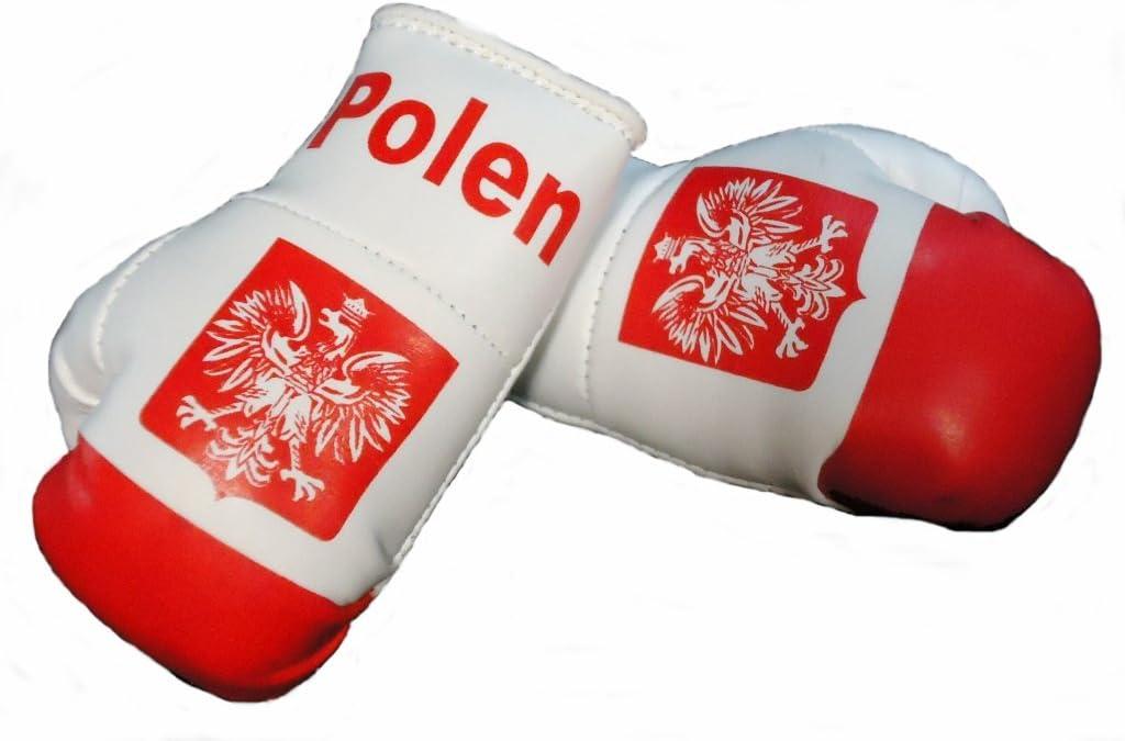 Mini Boxhandschuhe Polen 1 Paar 2 Stück Miniboxhandschuhe Z B Für Auto Innenspiegel Auto