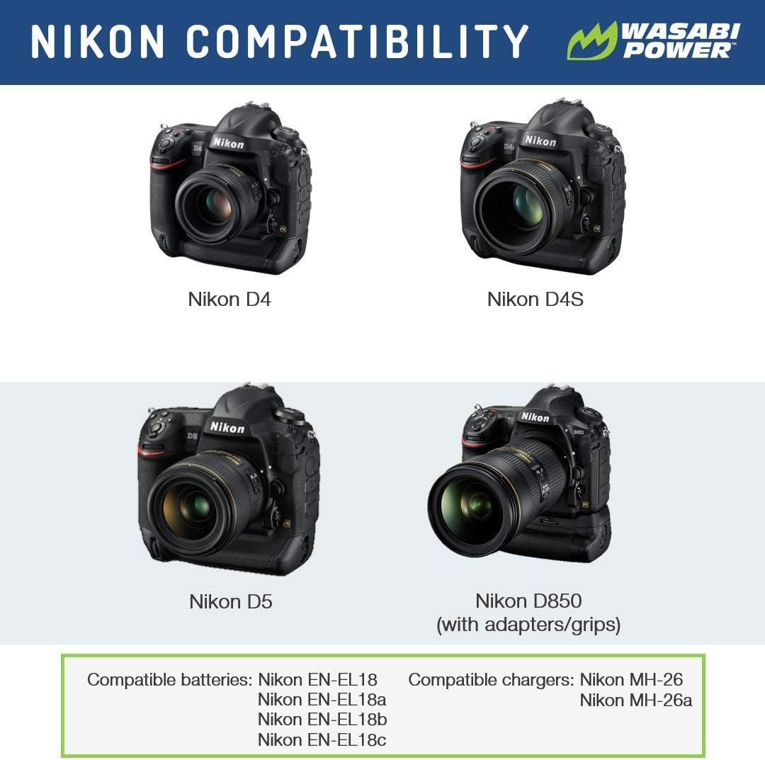 Wasabi Power Battery for Nikon EN-EL18 and Nikon D4, D4S, D5 : Digital Camera Batteries : Camera & Photo