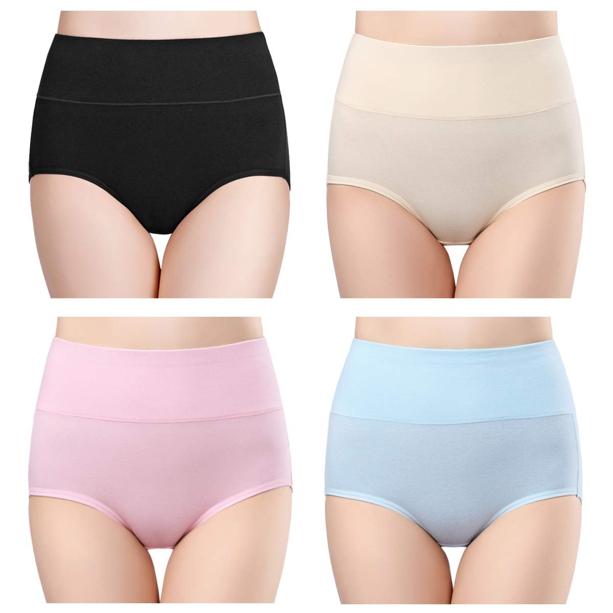 c7582a83ab0c wirarpa Women's Cotton Underwear High Waist Full Coverage Brief Panty  Multipack   Beauty For You Store - Beauty products Shopping