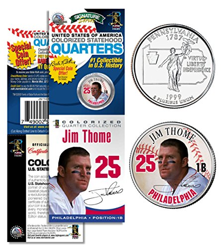 JIM THOME Phillies PROMO Pennsylvania State Quarter Coin & Card Sealed Package