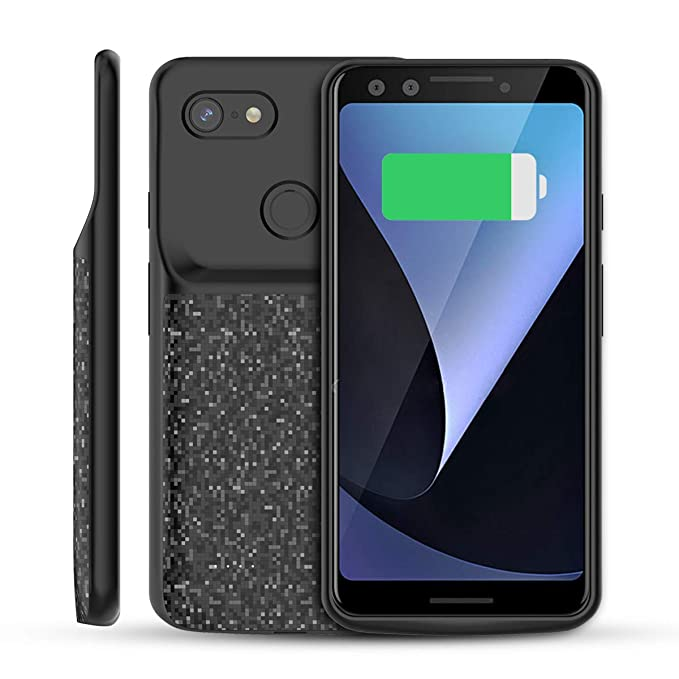 buy online 22059 df1bb Compatible Google Pixel 3 4700mAh Battery Case, FugouSell Rechargeable  Extended Battery Backup Charger Case Portable Power Bank Juice Full  Protection ...