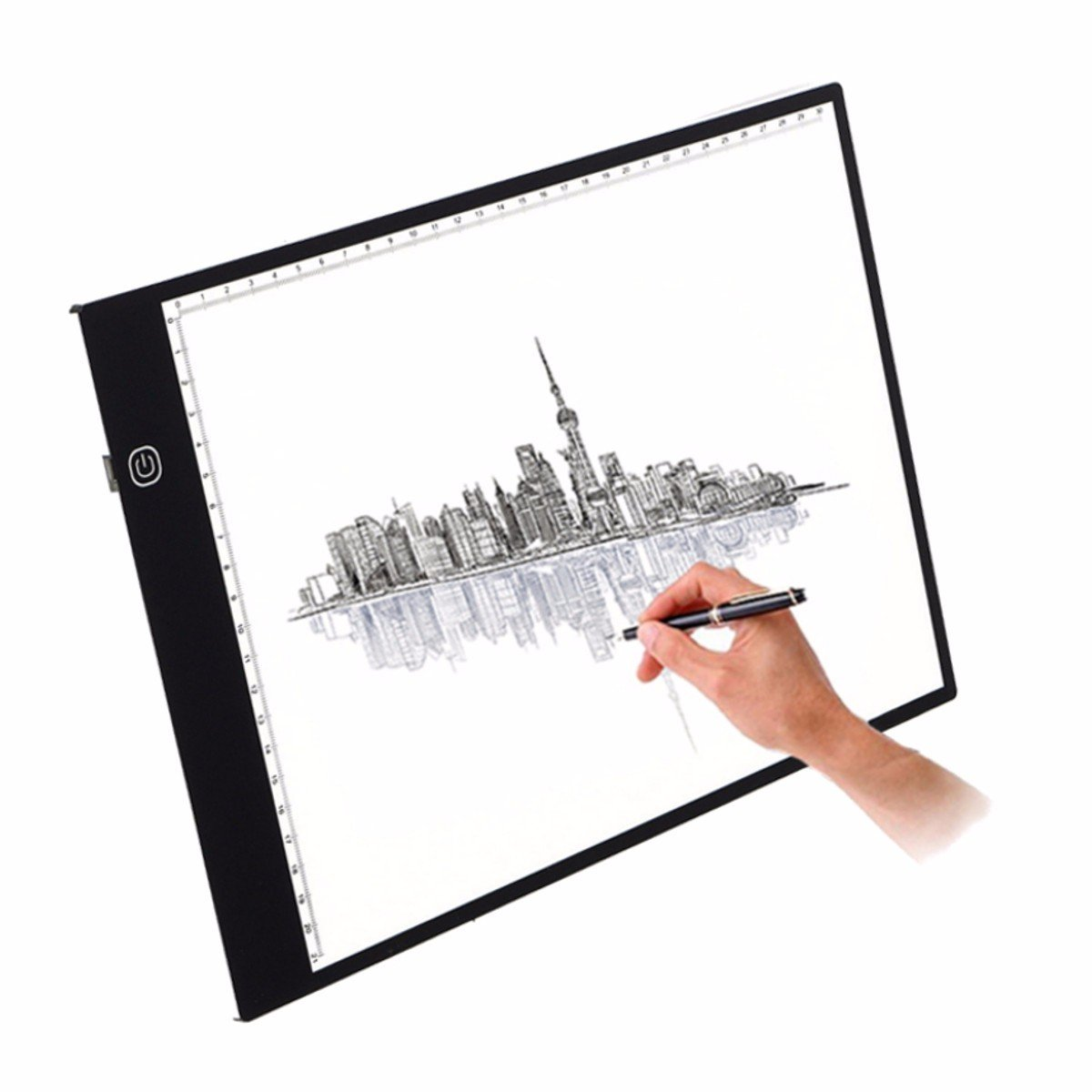 Craft light box for tracing -  Drawing Copy Tracing Light Box Track Light With Brightness Adjustable Tattoo Sketch Architecture Calligraphy Crafts For Artists Drawing Sketching A4