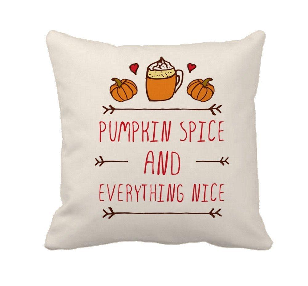 spxubz Pumpkin Spice Fall Halloween枕カバー装飾ホーム装飾素敵なギフトスクエアインドア/アウトドア枕カバーサイズ: 18 x 18インチ( Two Sides ) 18x18 Inch B07C7VRV43