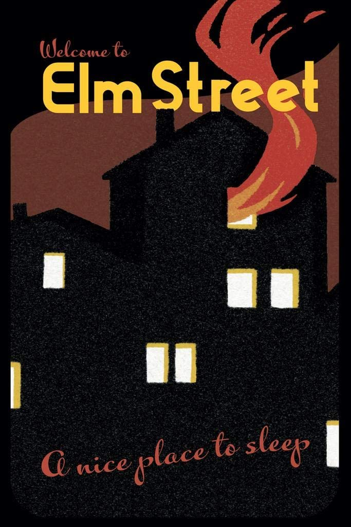 Welcome to Elm Street A Nice Place to Sleep Horror Movie Scary Nightmare Retro Vintage Travel Minimalist Cool Wall Decor Art Print Poster 24x36