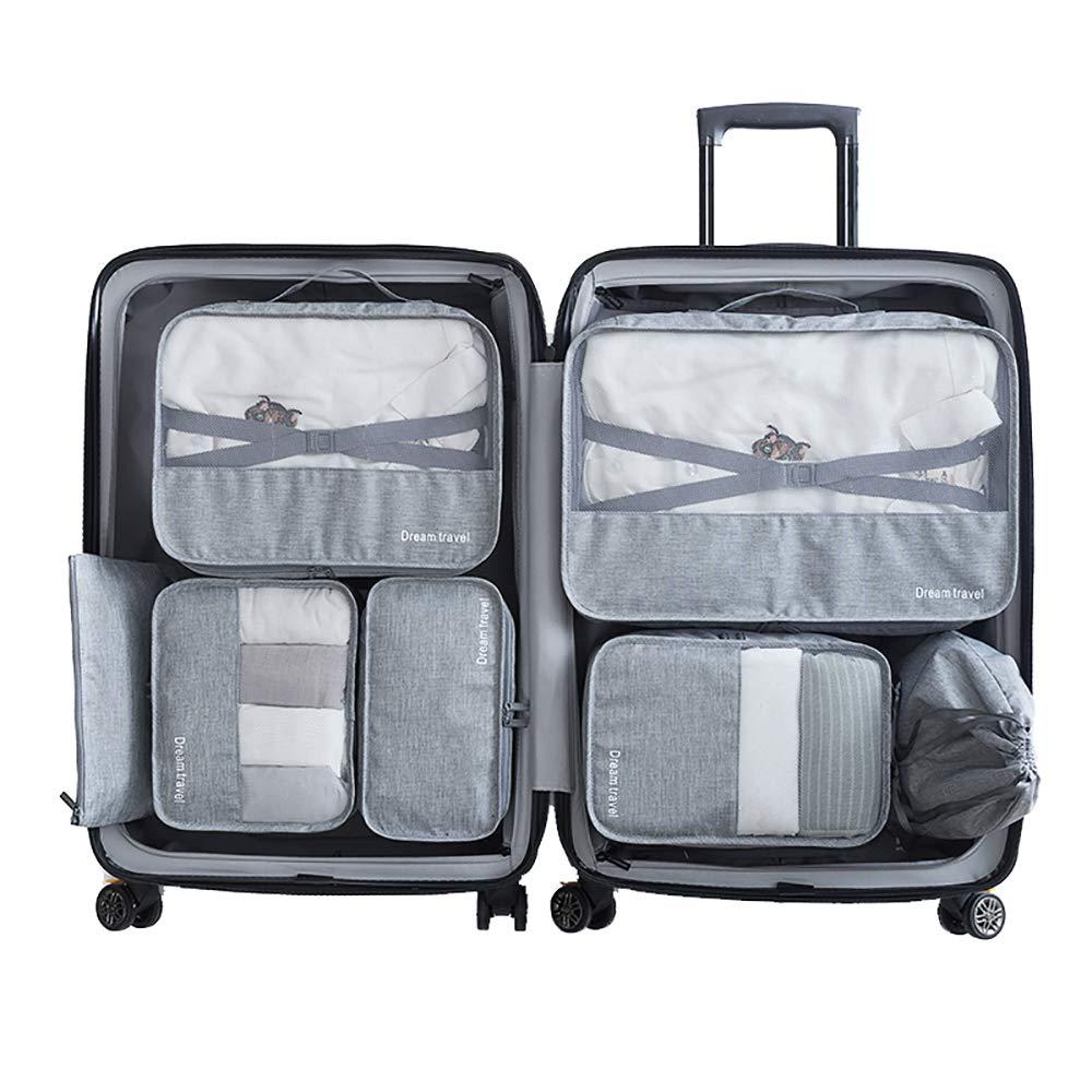 Packwürfel 7-Teiliges Kleidertaschen Set, Slimfone Packing Cubes   Packtaschen Kofferorganizer für Koffer Taschen Organise Blue