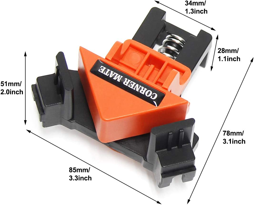 Wisamic 4PCS 90 Degrees Right Angle Clamp Clip for Quick Fixing Picture Frame Corner Clamps