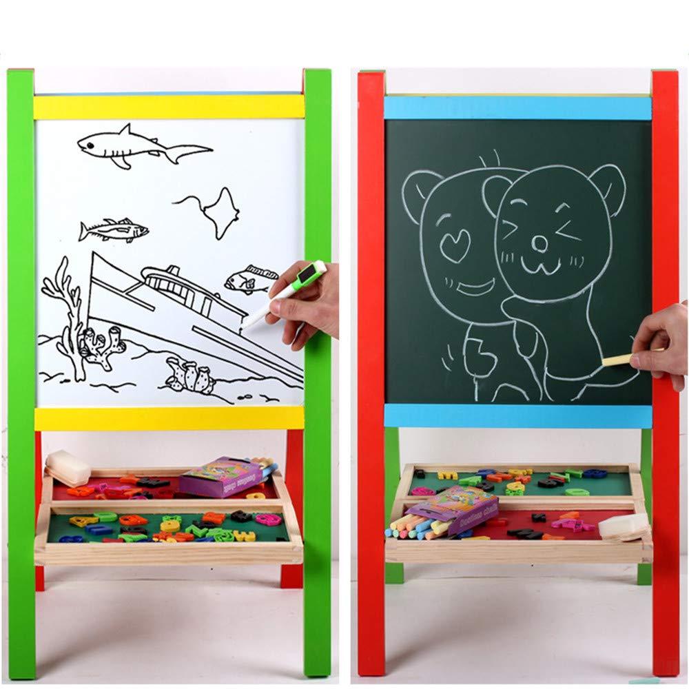 Cavalletto per Bambini Bambini in Piedi sul Bordo del cavalletto di Arte con Lavagna Bianca e Lavagna Lettere magnetiche Regali per Bambini 2-3 Anni Ragazzo e Ragazza Tavolo da Disegno Perfetto per
