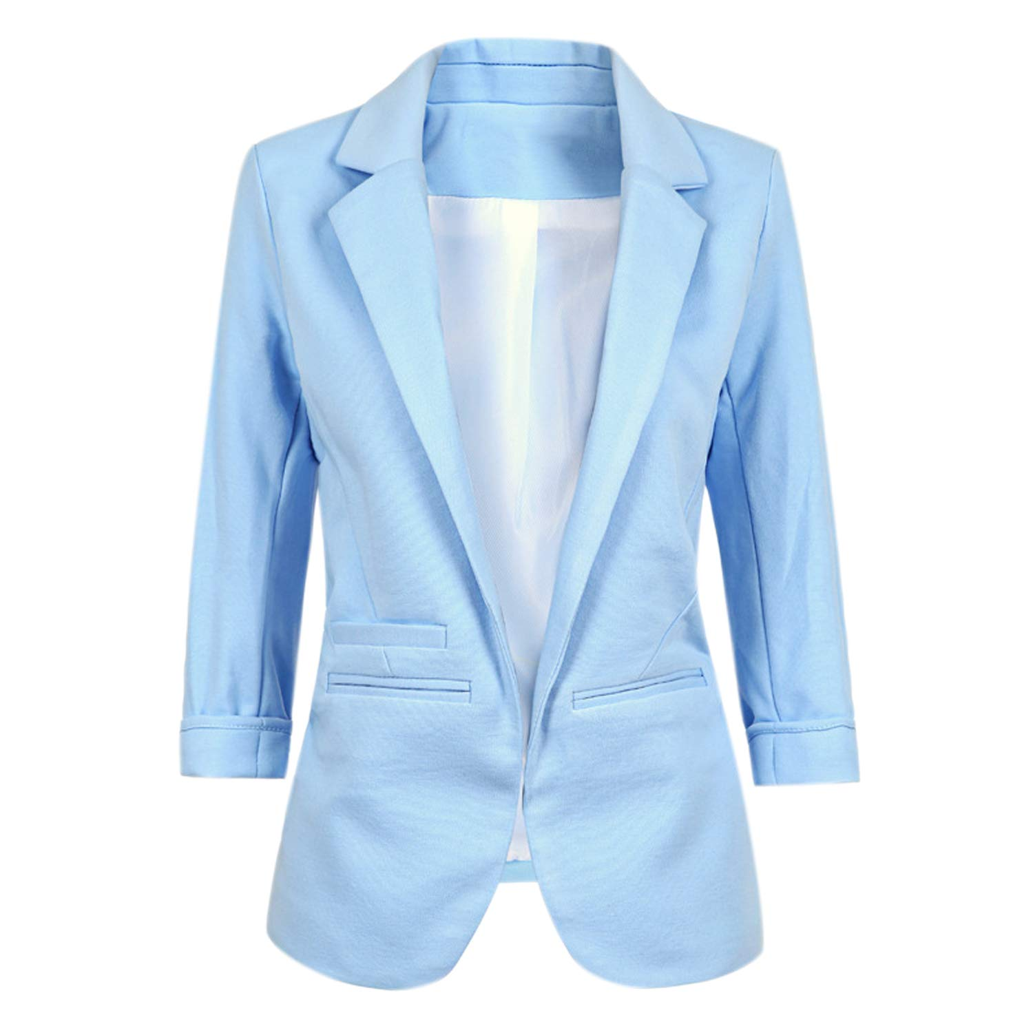 Boyfriend Blazers for Women Rolled Up Casual Office Suit Coat Jacket XGSF1719B01