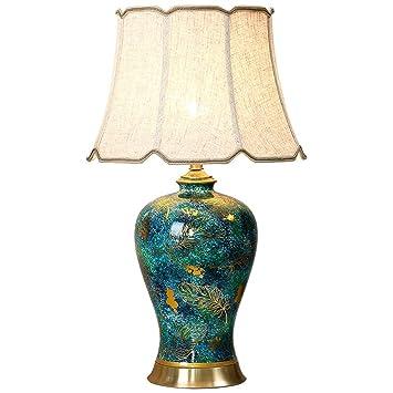 SUNSHIN Lámpara de Mesa de cerámica Europeo cálido Modelo de ...