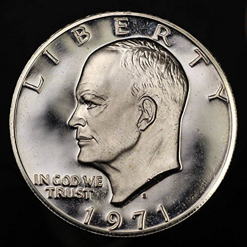 1971-S 40% Silver U.S. Eisenhower Silver Dollar Coin, Mint State Condition, Special Proof Strike