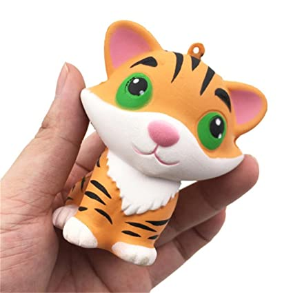 Mobile Phone Straps Cellphones & Telecommunications Slow Rising Kawaii Tiger Squeeze Jumbo Squishy Bread Soft Scented Cake Toys Doll Gift Super Animal Phone Straps