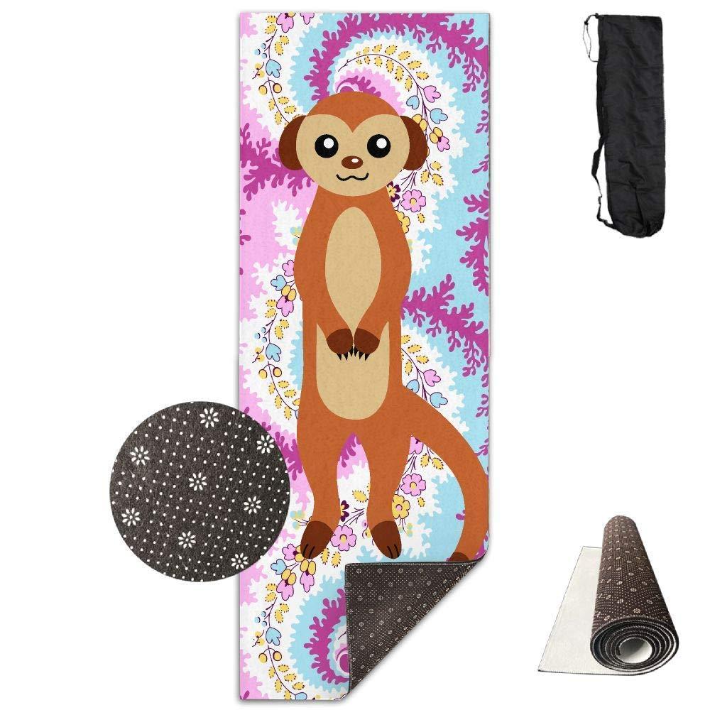 Vercxy Otter - Tappetino da Yoga avanzato per Yoga, Fodera Antiscivolo, Facile da Pulire, Senza Lattice, Leggero e Resistente, 180 x 61 cm