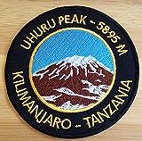 Mount Kilimanjaro Iron on Patch / 3.5 Inch Embroidered Uhuru Peak Tanzania Trekking Badge