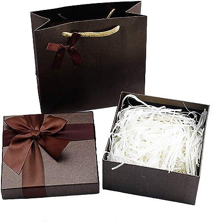 Yangliu - Caja, Caja de azúcar para el día de San Valentín, Bolsa de Papel de Regalo para Joyas de Boda, marrón, 35 * 27 * 8: Amazon.es: Hogar