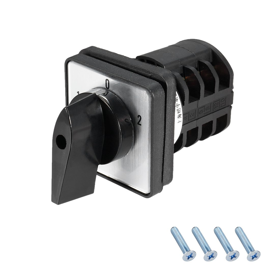 uxcell a14101300ux0573 660V 20A 3 Position Panel Mounting Select Rotary Cam Changeover Switch