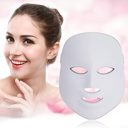 7 colores Luz terapia de fotones Máscara Facial Skin anti arrugas activar la máscara de colágeno