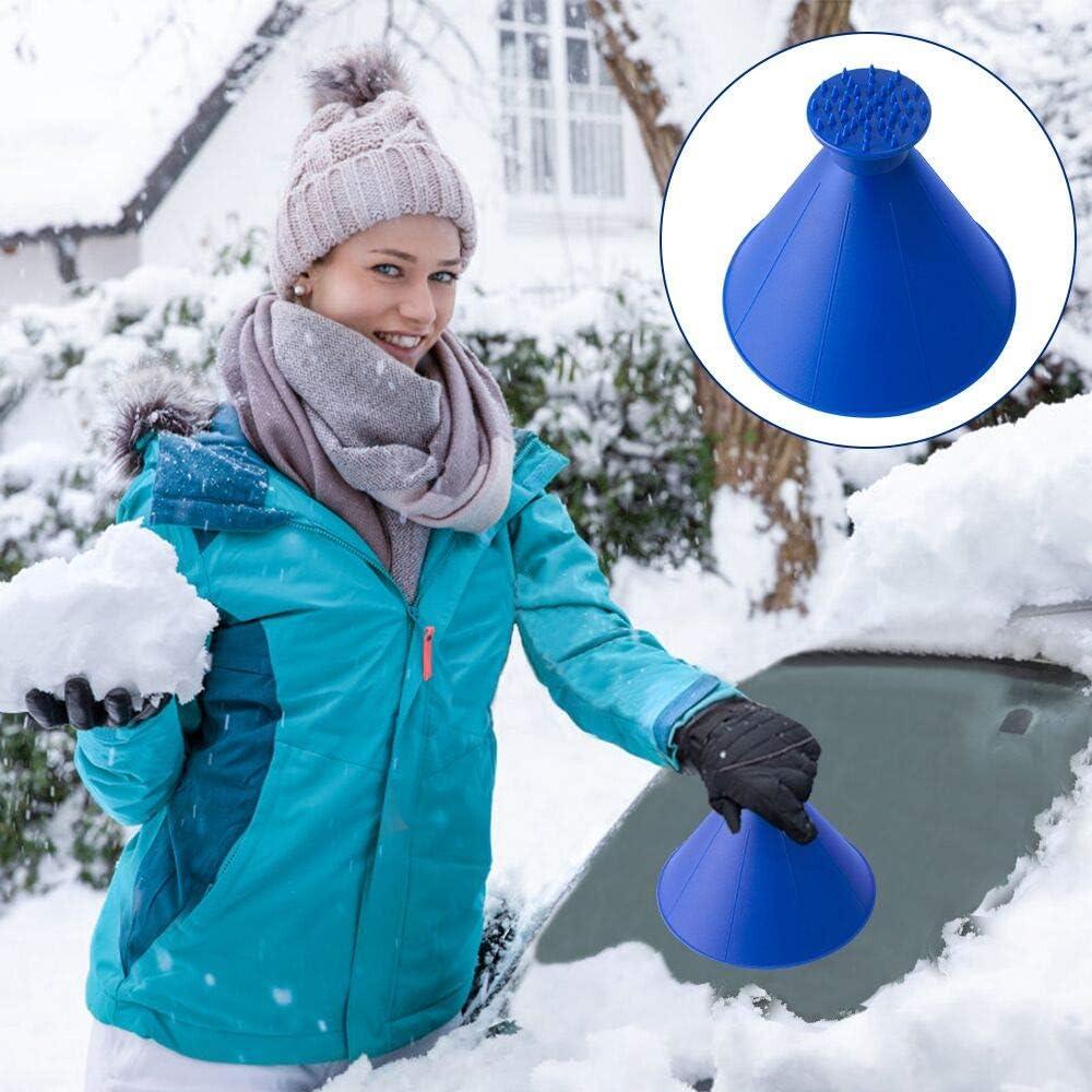 Scrape A Round Ice Scraper Magic Cone-Shaped Windshield Ice Scraper Snow Shovel Scrape Ideal for Cold Snow Weather