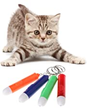 Qiman Dauerhaftes helles Katzen Spielzeug, lustiger Katzen Plastikstock spielt Haustier Spielwaren Licht Zeiger Stift Spiel Spielzeug