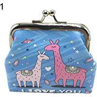 bigcity Cartoon Sheep Faux Leather Kiss Clasp Mini Money Bag Wallet Girls Coin Purse