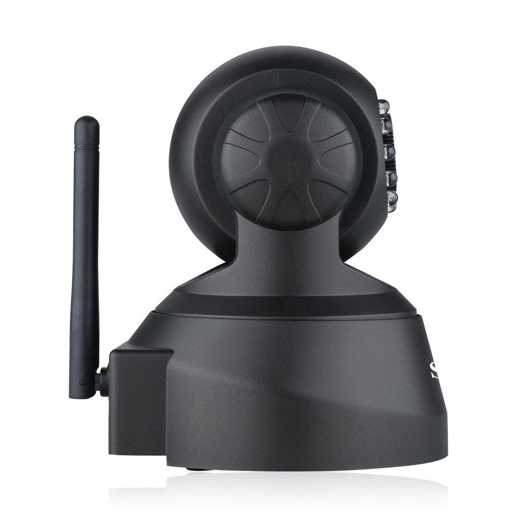 Sricam SP012 - Cámara Ip de Vigilancia (720P, H.264, Wifi, Onvif, P2P, Coms, IR-LED, CCTV, TF, Sin conexión de PC, Todas funciones por APP, para Seguridad) (Negro)