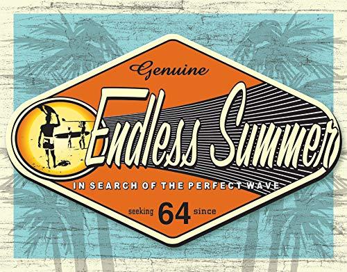Endless Summer Tin Sign - Desperate Enterprises Endless Summer Tin Sign, 16