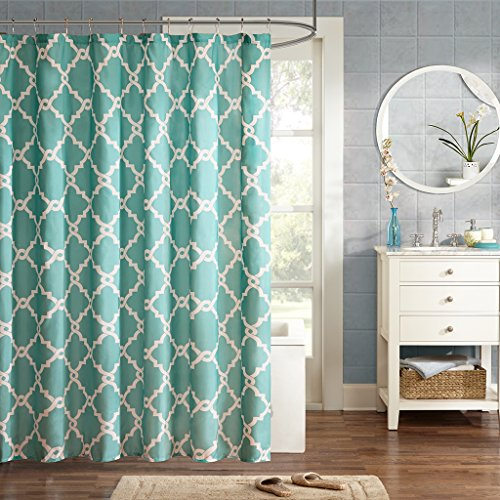 Madison Park Essentials - Merritt Shower Curtain - Aqua - 72