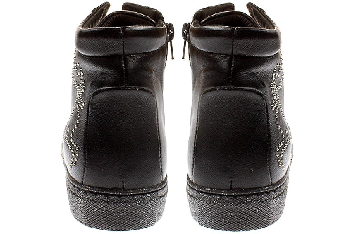 Maca Maca Maca Kitzbühel - Damen Schuhe Turnschuhe Schnürer - 2195 -schwarz 2c7e12
