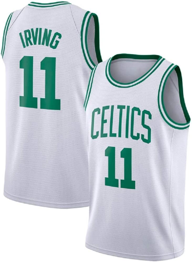 Boston Celtics # 11 Columpio Bordado para Hombres y Mujeres Ropa Deportiva Chaleco de Jersey de Camiseta de Baloncesto Kyrie Irving