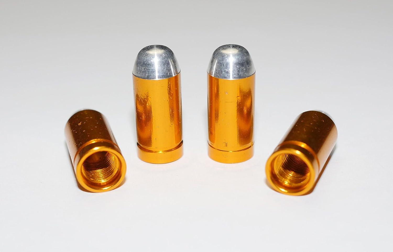 ETU24 Capuchons de valve de votre choix cartouche grenade et plus encore /émotic/ône ensemble de 4 bouchons de valve en aluminium anodis/é m/étallique