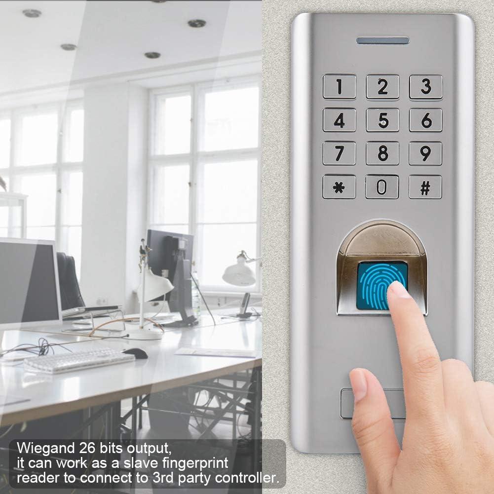 2000 PIN Diyeeni Fingerabdruck Zutrittskontrollsystem Unterst/ützt 1000 Fingerabdr/ücke Elektronisch T/ür/öffner Access Control mit Keypad Wiegand 26 Digit Output IP66 Wasserdicht f/ür Innen Au/ßen