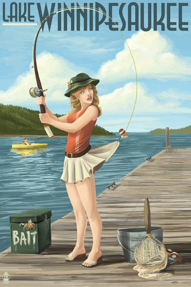 【メール便無料】 湖Winnipesaukee、New Print Hampshire LANT-37093-16x24 – Pinup x Girl釣り 16 x 24 Giclee Print LANT-37093-16x24 B00N5CS2EG 24 x 36 Giclee Print 24 x 36 Giclee Print, 横浜大飯店:87291f8c --- aikurei.co.jp