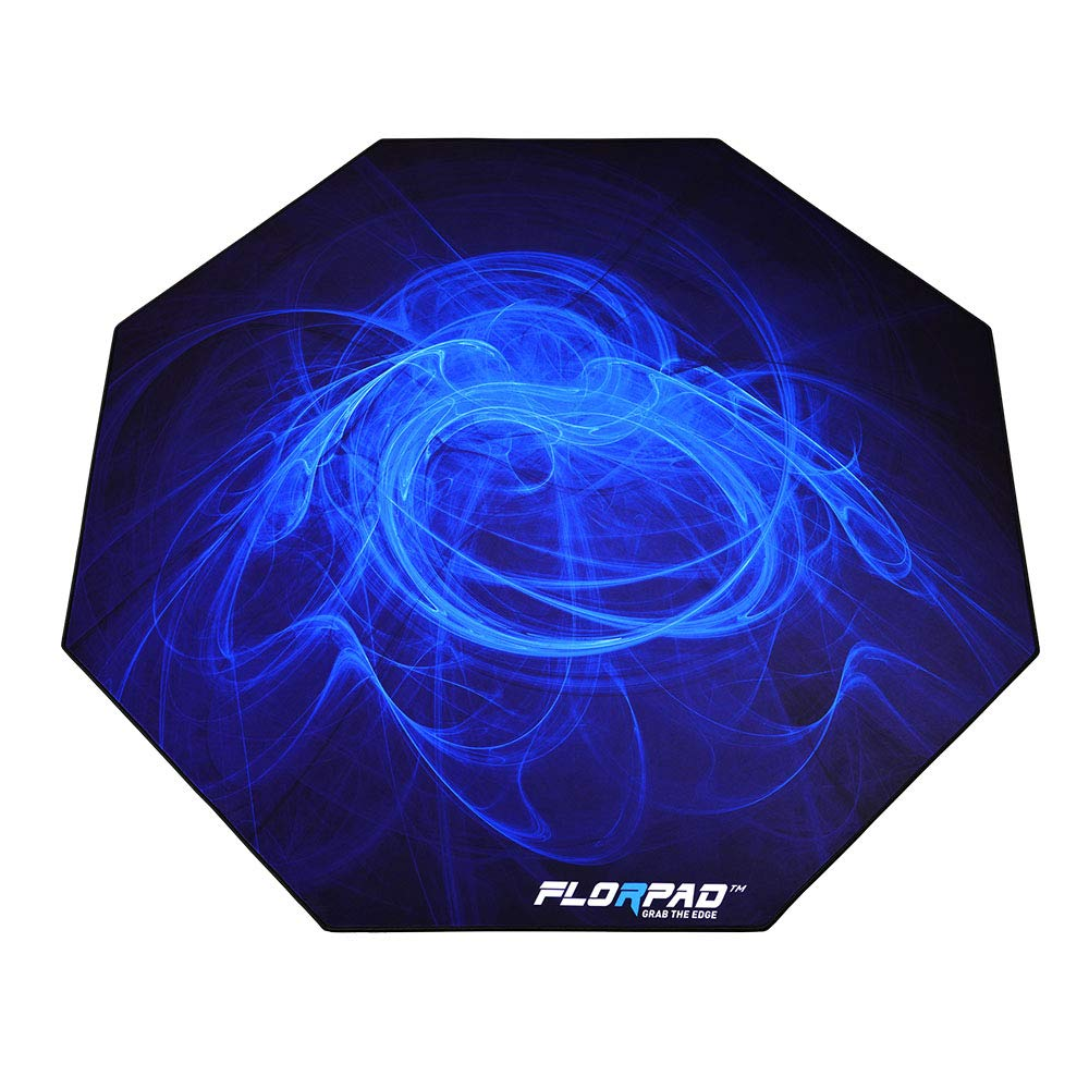 Florpad Arctic Gaming Office Chair Mat | Protects All Floors | Liquid Resistant | Noise Cancelling | Smooth Surface 45'' x 45'' by FLORPAD GRAB THE EDGE