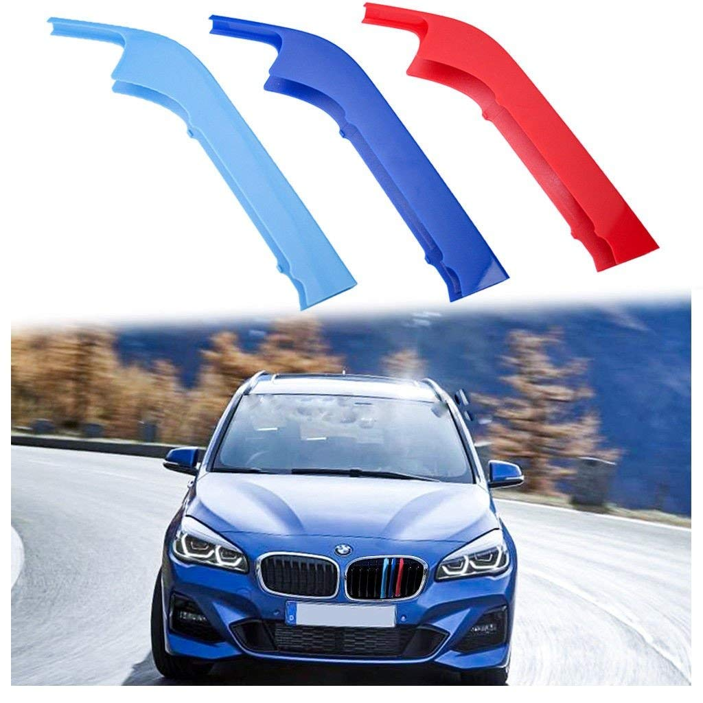 Xotic Tech 3pcs M-Colored Sport Grille Kidney Insert Trims for 2018 BMW 2 Series 220i 230i Xotic Tech Direct