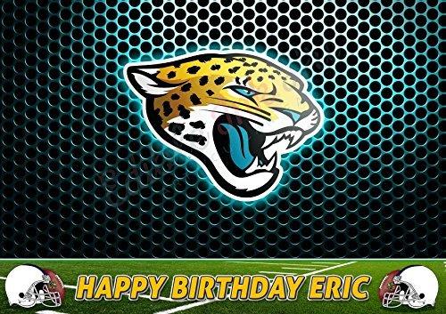 Jacksonville Jaguars NFL Edible Cake Topper Personalized Birthday 1/4 Sheet Decoration Custom Sheet Party Birthday on Wafer Rice (Jacksonville Jaguars Cake)