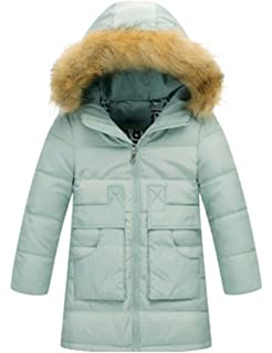 BELLOO Kids Girls Lightweight Down Jacket Hooded Cosy Outerwear Coat 19ac79067