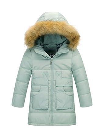 ea8bdc059e60 BELLOO Kids Girls Lightweight Down Jacket Hooded Cosy Outerwear Coat ...
