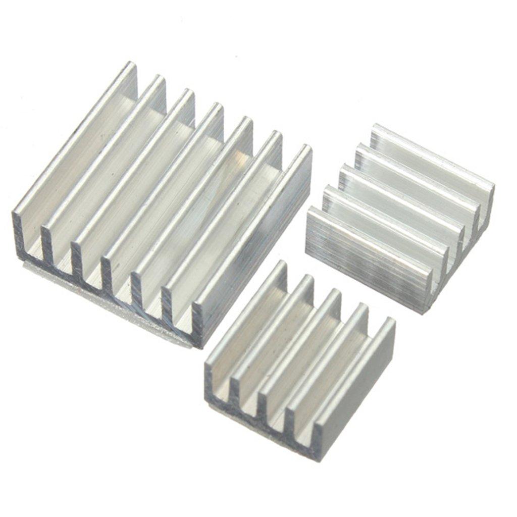 DAOKI 15 PCS One Set Aluminum Heatsink Cooler Adhesive Kit Sink for Cooling Raspberry Pi BG-US-948311