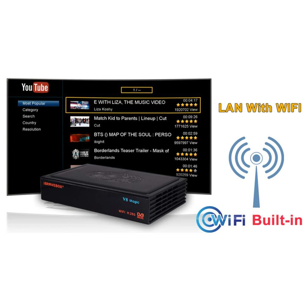 PinShang Satellite TV Receiver iBRAVEBOX V8 Magic DVB-S/S2 & IPTV Digital Free Satellite Web TV Receiver US Plug by PinShang (Image #2)