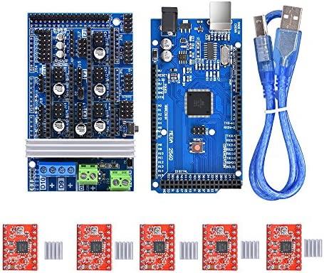 BIQU Mega2560 - Placa de control + rampas 1,6 Mega Shield + ...