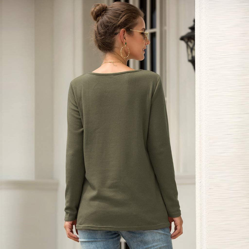 Cewtolkar Women Lace Blouse Stitching Tops Cutton Tees Long Sleeve T Shirt Pullover Tunic Skinny Shirt