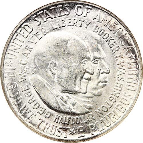 1953 S Silver Commemoratives Washington-Carver Half Dollar MS64 NGC ()