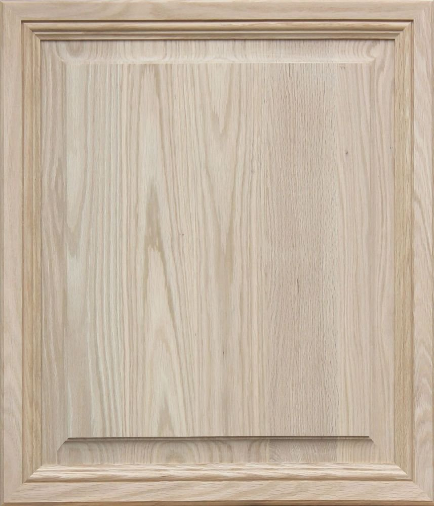Unfinished Oak, Mitered Raised Panel Cabinet Door by Kendor, 28H x 24W