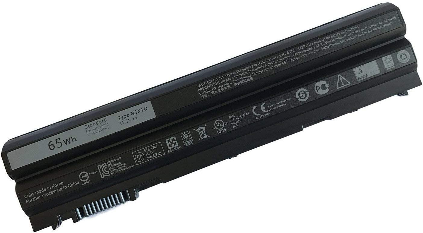Batterymarket New 11.1V 65WH Replacement Laptop Battery Compatible with Dell Latitude E6540 E6440 E5530 E5430 E6520 E6420 Precision N3X1D M2800-6-Cell