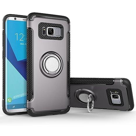 Bestsky Coque Samsung Galaxy S8 Bague, Housse de Protection avec 360 Degré  Rotation Anneau de 8e23870f8b1b